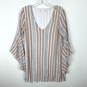 Altar'd State Striped Mini Shift Dress Boho #693